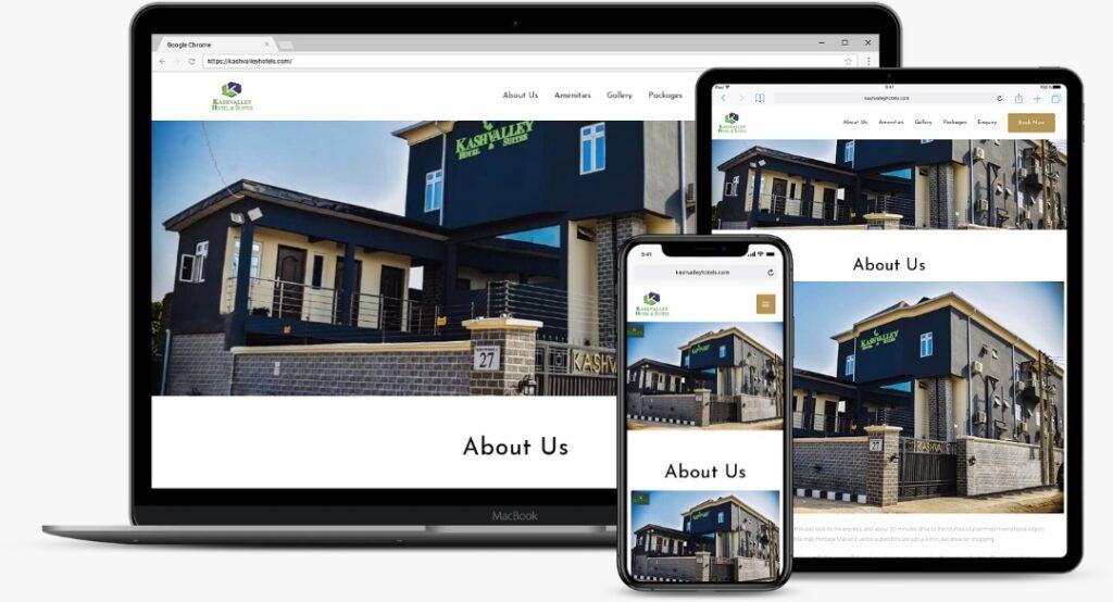 Kashvalley Hotels Mockup by Kayode Omotehinse